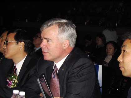 图文:联想新CEO沃德出现在联想二十年纪念大会