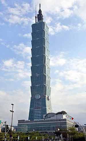 台北101大楼年底即将开放其电梯速度全球最快