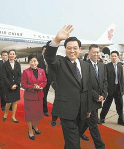 胡锦涛主席抵达澳门(图)