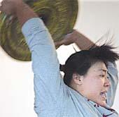 顾原和她的链球芭蕾(组图)
