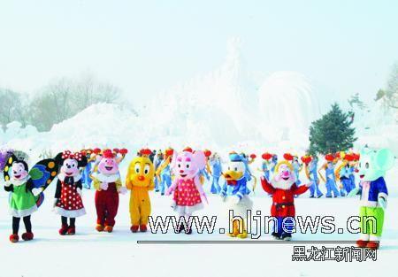 卡通人物也来庆新年. 本报记者杜怀宇摄