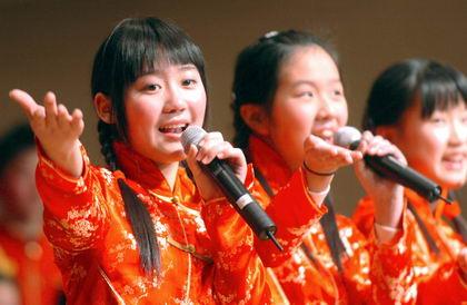 中韩少儿共唱新年歌(图)