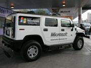 微软的现场宣传车