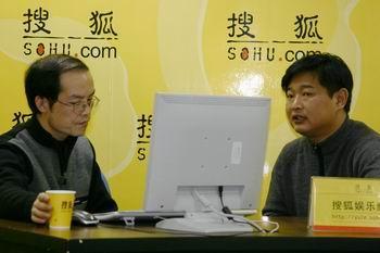组图:《乡约》制片人肖东坡1做客搜狐