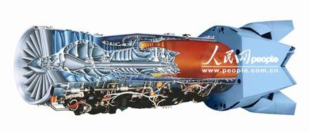 f119型发动机结构示意图