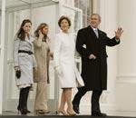 布什全家前往就职典礼现场