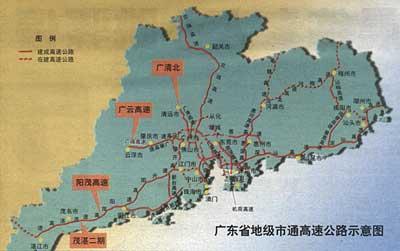 广东地级市全通高速 明年建成两条出省高速公路