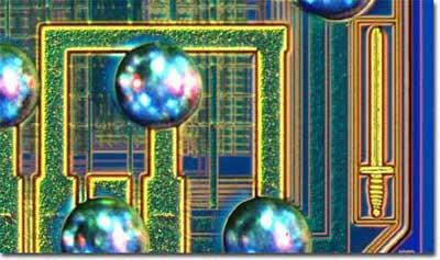 将一些处理器和大规模集成电路彻底拆解,并且拿到显微镜下去看,没想到