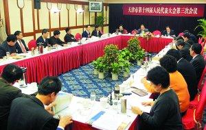 图文:十四届人大三次会议代表审议工作报告