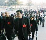 山东省政协委员们到达会场