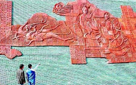 浮雕 离骚 在湖南面世 诗书画全长300米