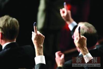 布什发表第二任期国情咨文(图)