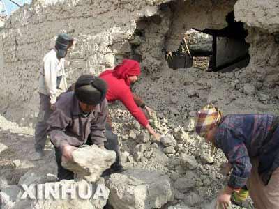 新疆乌什地区今发生6.2级地震造成部分房屋倒塌