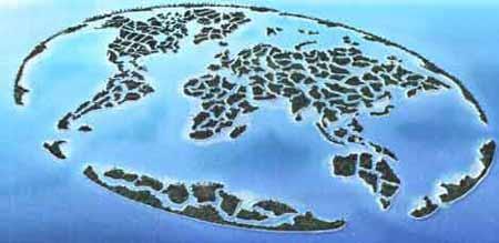 组图:世界最大人工岛勾勒世界地图