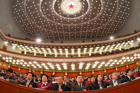 图文:全国政协十届三次会议开幕(4)