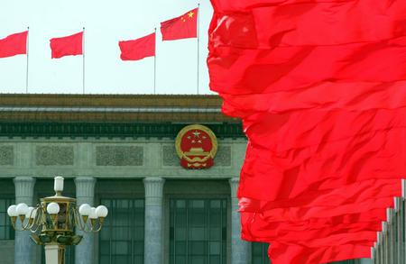图文:全国政协十届三次会议开幕(9)