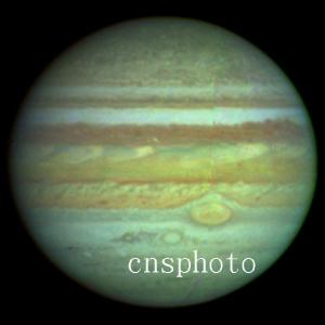 哈勃望远镜拍摄的木星照片