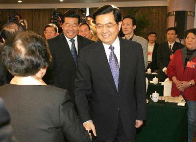 """胡锦涛:反对""""台独""""分裂活动决不妥协"""