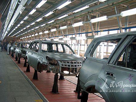 组图:长城汽车新品哈弗cuv生产线