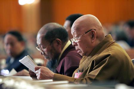 图文:政协十届三次会议举行第二次全体会议(1)