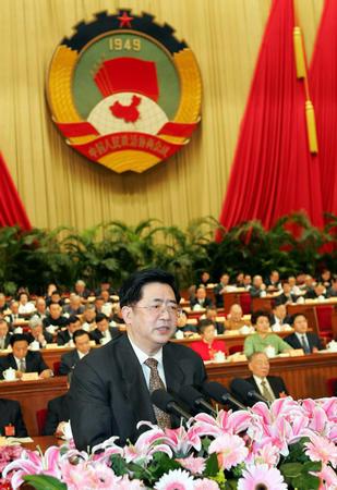 图文:政协十届三次会议举行第二次全体会议(4)