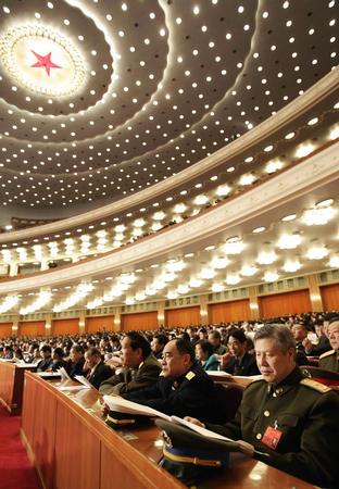 图文:十届全国人大三次会议举行第二次全体会议