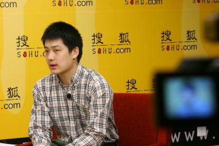 图文:常昊做客搜狐聊天 视频直播拍摄现场
