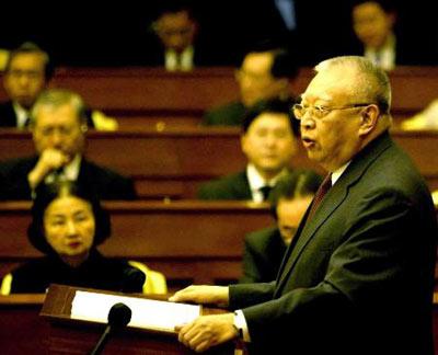董建华正式提出辞去香港特区行政长官职务