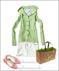 服装:春意盎然 让绿叶陪衬自己