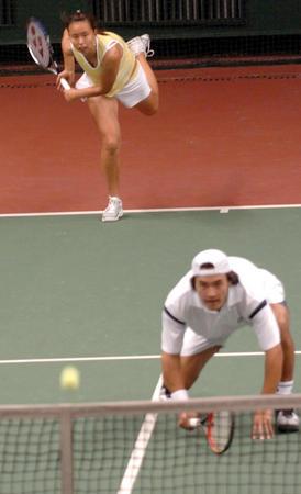 [十运会前奏](3)网球预赛混双赛况