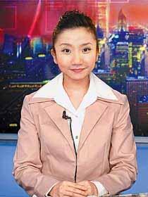 陶晶莹变身新闻主播