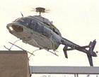 直升飞机在校园上空盘旋