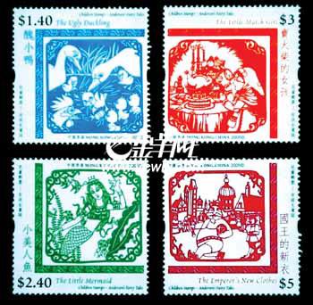 儿童手绘国庆邮票