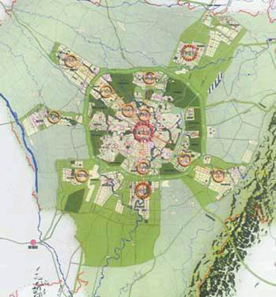 构建多中心城市空间结构