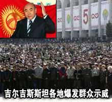 颜色革命指向吉尔吉斯 各地游行频发