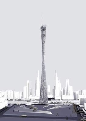州电视塔被疑仿日本建筑 专家称两者不同(图)