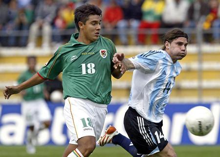图文:阿根廷2-1玻利维亚