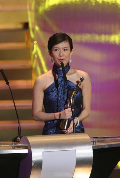 图文:金像奖颁奖现场--章子怡发表感言