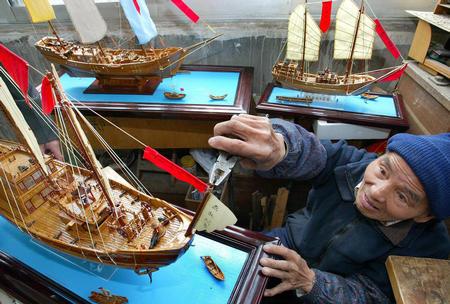 小学生制作做船