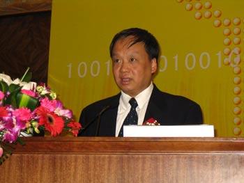 图文:闻库司长谈04年中国电信产业发展的情况