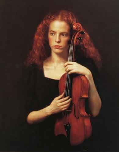 《陈逸飞画集》中选展作品之-中提琴手
