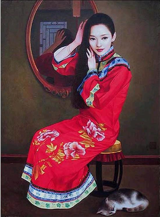 组图:陈逸飞油画作品
