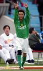 图文:北京4-0申花 杨昊庆祝