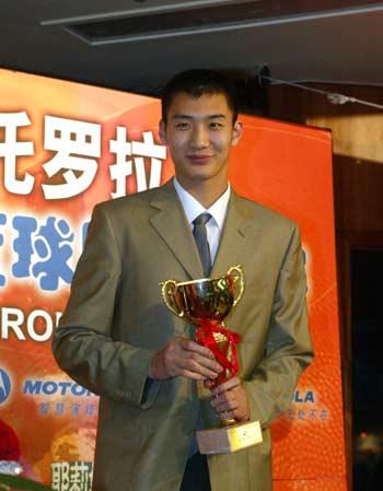 篮球颁奖晚会在京举行 薛玉洋获最佳新人