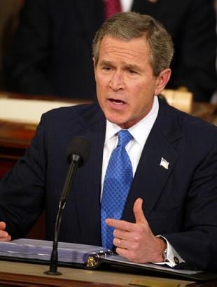 美国总统布什发表国情咨文讲话