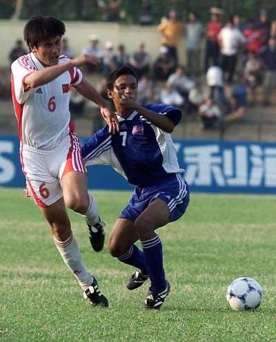 5月6日,中国足球队在2002年世界杯外围赛亚洲区第九小组的一场赛
