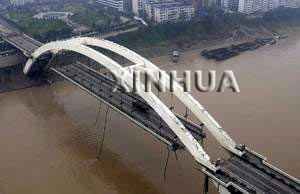 图文报道 四川宜宾金沙江南门大桥部分垮塌