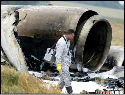 图文:两架飞机德国上空相撞