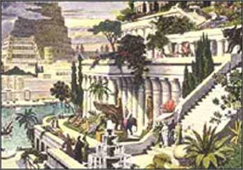 传说中的巴比伦空中花园