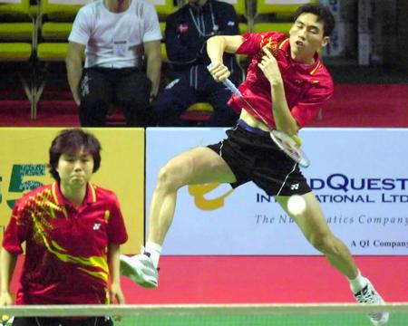 香港羽球公开赛 金东文 罗景民进混双决赛